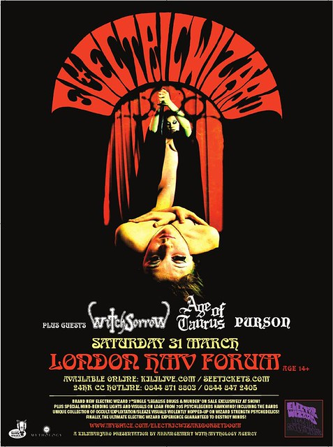 Electric Wizard London HMV Forum metalgigs metal gigs london gig listings witchsorrow age of taurus purson