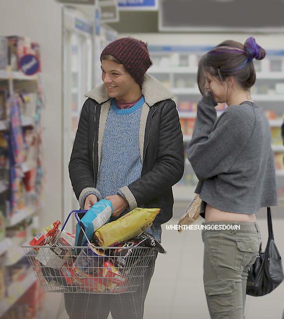 At A Local Tesco Store.// Selena& Louis