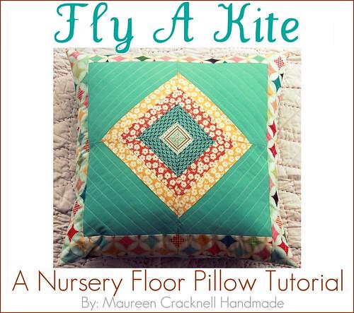 Fly A Kite Nursery Floor Pillow Tutorial