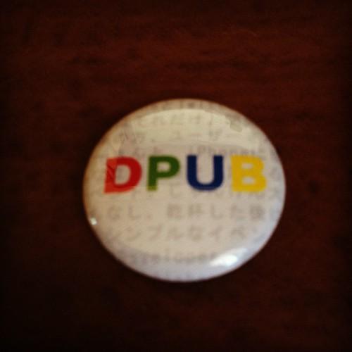 Dpubのカンバッジ。
