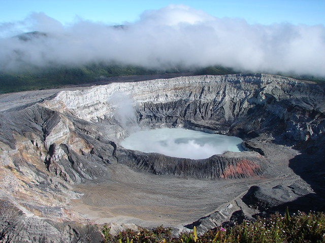 Magnificent Poás Volcano crater
