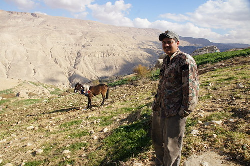 Shepherd with mule by CharlesFred