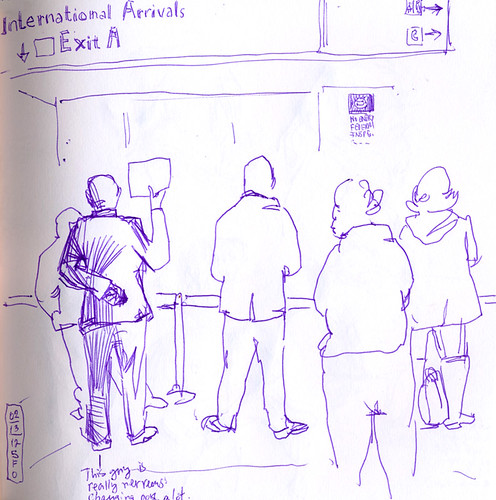 February 2011: Waiting at SFO