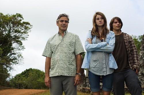 George Clooney, Shailene Woodley és Nick Krause