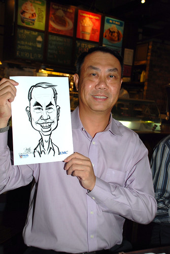 caricature live sketching for emc NUS - 10