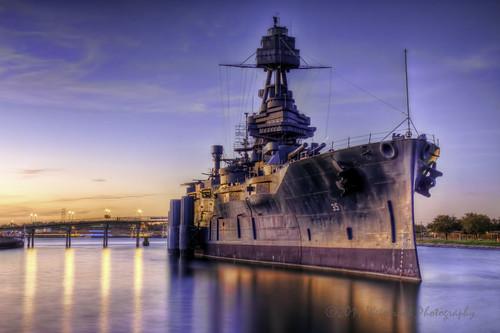 sunset reflection water texas wwi wwii battleship pasadena hdr deerpark sanjacinto dreadnought usstexas battleshiptexas buffalobayou usnationalhistoriclandmark lynchburgcrossing