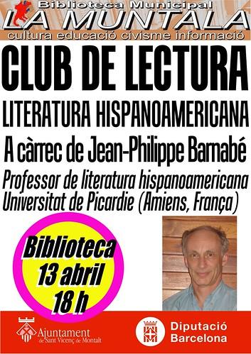 Club de lectura hispano-americana @ 13 abril 18 h. by bibliotecalamuntala