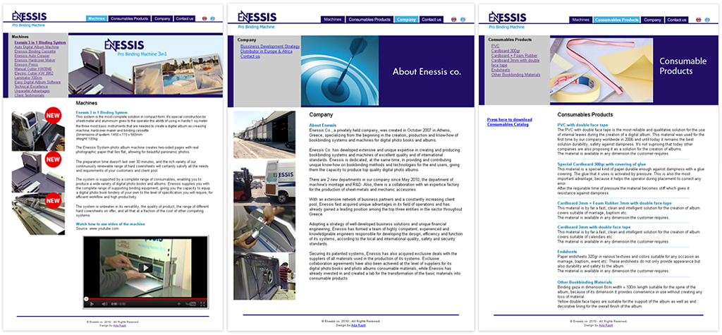 Enessis-webpages