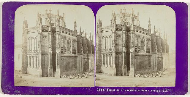 Monasterio de San Juan de los Reyes. Fotografía estereoscópica de Jean Andrieu en 1868 con número de serie 2653
