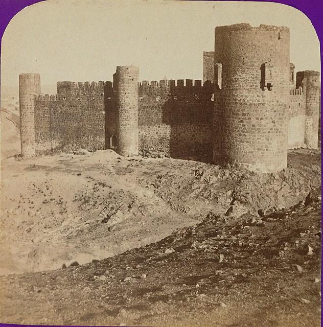 Castillo de San Servando. Fotografía estereoscópica de Jean Andrieu en 1868 con número de serie 2659