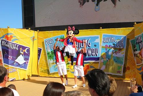 Sail away party on Disney Fantasy