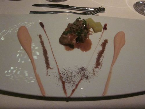 Next/El Bulli - Chicago - February 2012 - Civet of Rabbit with Hot Apple Jelly