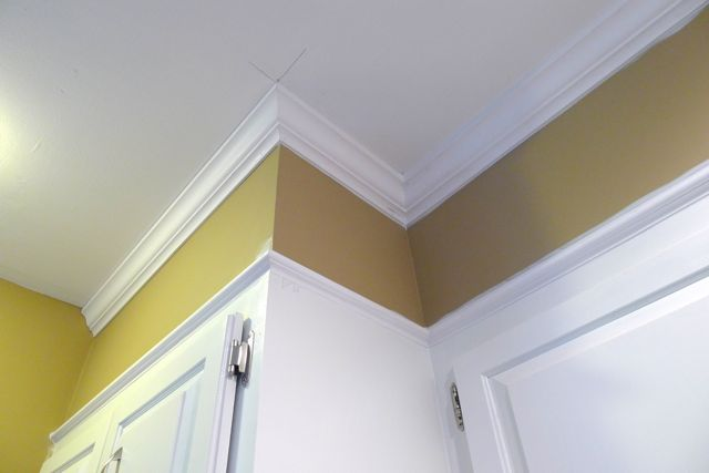 Crown Molding Caulked