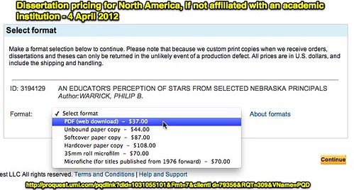 ProQuest: Dissertation Pricing