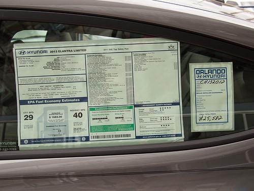 2012 Hyundai Elantra Limited Mileage