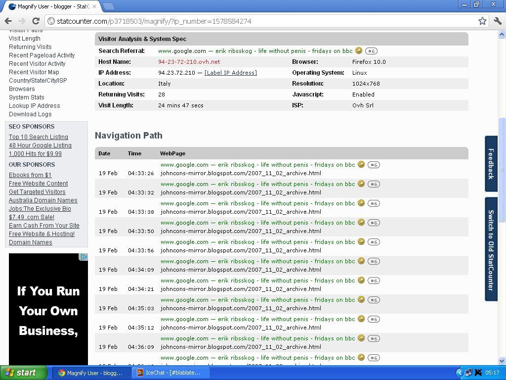 ea8e57b8 nytt sykt statcounter søk