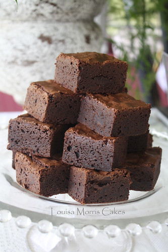 Double chocolate brownies by Louisa Morris Cakes