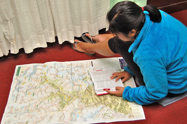Figuring out the Trekking Trail, Nepal