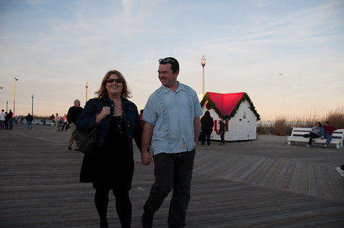 Don and Susan: Walking on Boardwalk