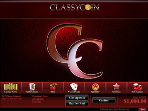 Classycoin Casino Lobby
