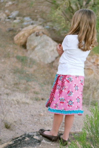 Little Urban Girl Wrap Skirt in Domestic Bliss