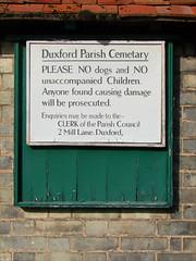 Duxford Parish Cemetary (sic)