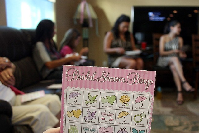 Bridal shower bingo