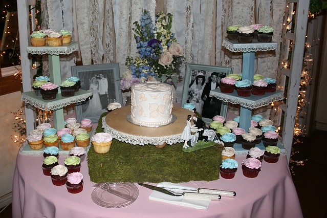 The cake display
