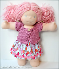 "Balloons Skirt w/Pink Shrug for 15"" Dolls"