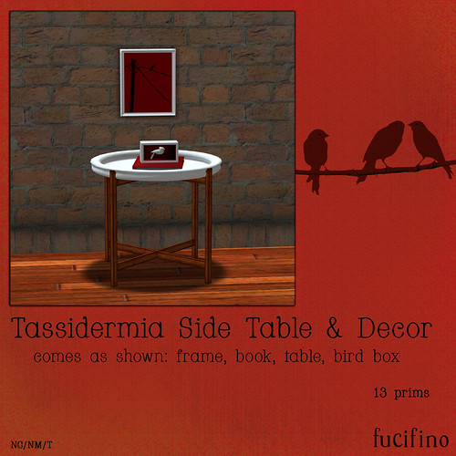 fucifino.tassidermia side table for Flux SL