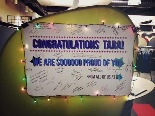 Congrats to Tara who ran in the Boston Marathon on Monday!