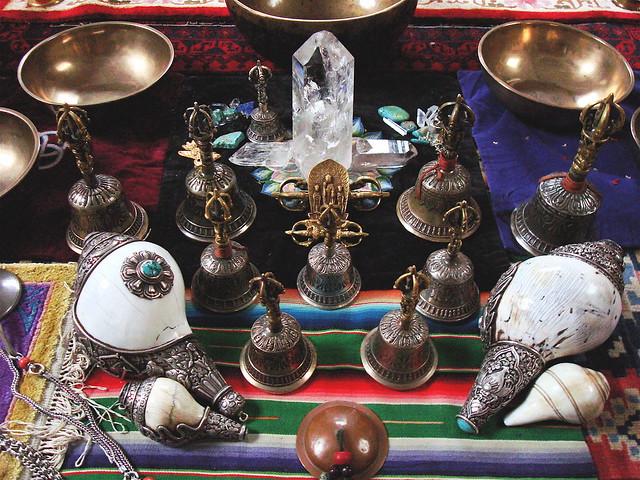 Karma Mofffett: Tibetan bells and ritual objects