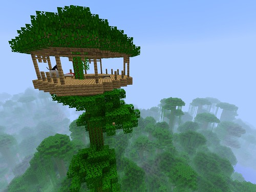 I made a Minecraft treehouse