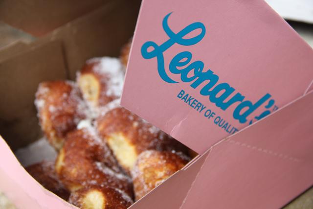 Peeking into the box of Leonard's...