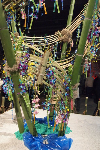 you take some bamboo and throw some orchids and stuff on it.... 'it is too much Michaels here'