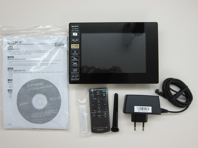 Sony S-Frame DPF-HD700 - Box Contents