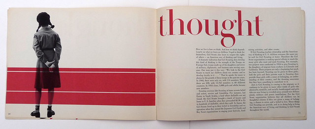 girl scout booklet designed by alvin lustig