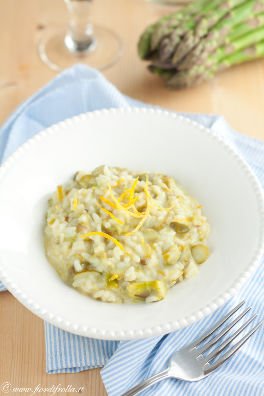 Risotto agli asparagi formaggio di capra girgentana e limone