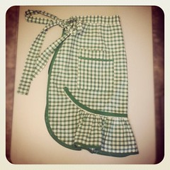 Whilst I already have over 10 vintage aprons, none of them are gingham so I really needed this!