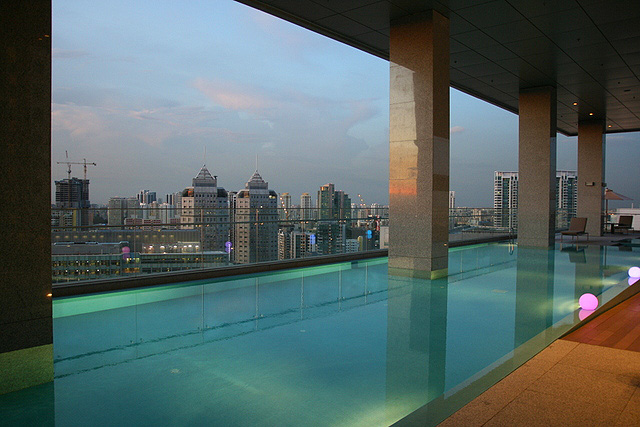 The 22nd floor swimming pool