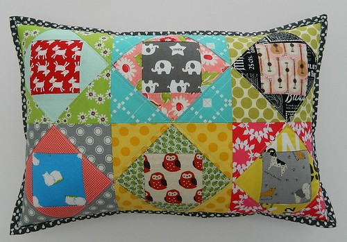 paper pieced pillow