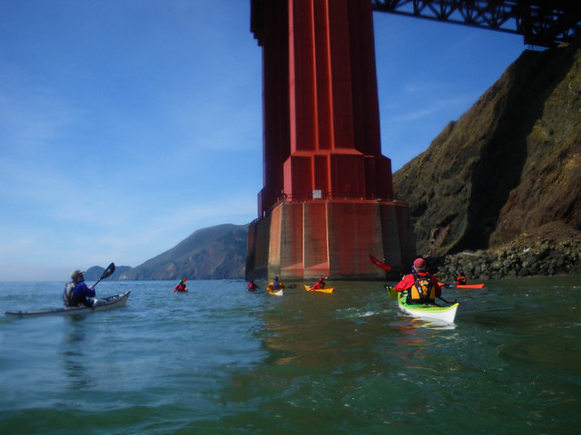 paddling under