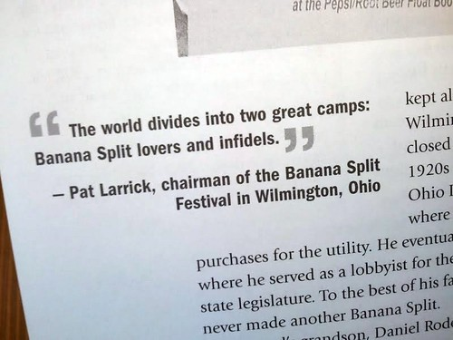 Quote from the Banana Split Book