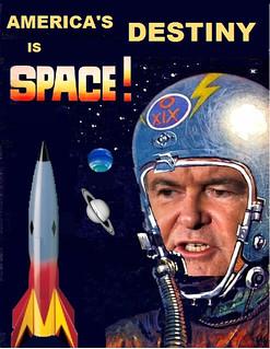 Jeb Bush Endorses Gingrich Moonbase Plan