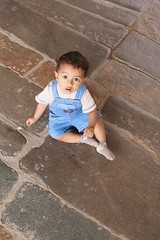 child, floor, photograph, blue, person, boy, toddler, sitting,