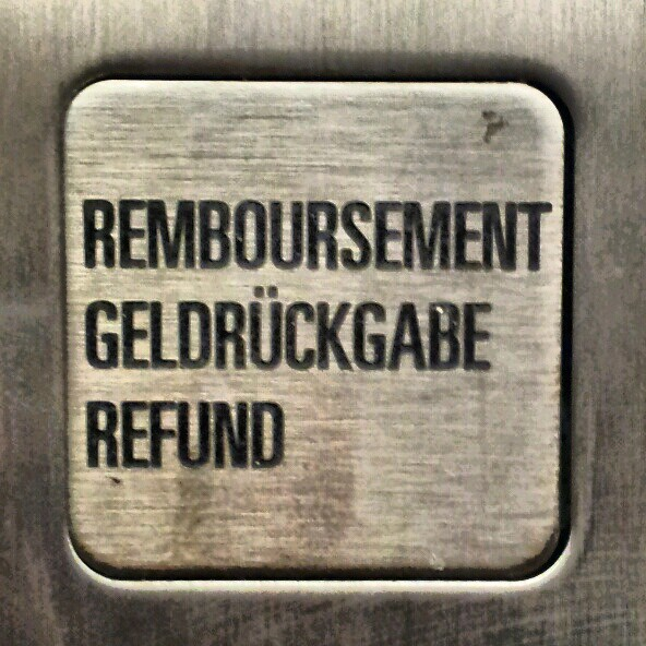 refund button on a  vending machine