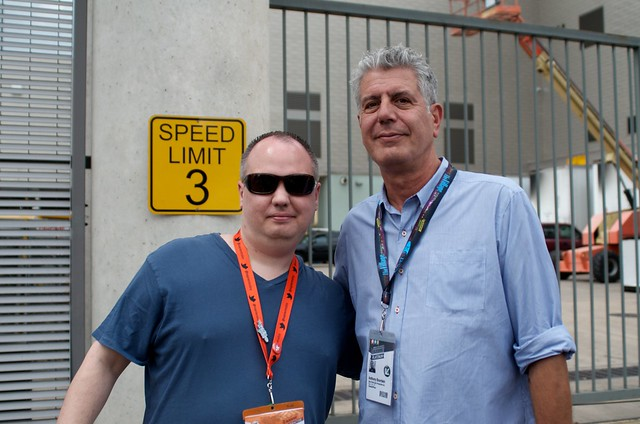 Look who I just bumped into: Anthony Bourdain