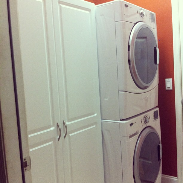 new laundry room storage! This mama is happy!