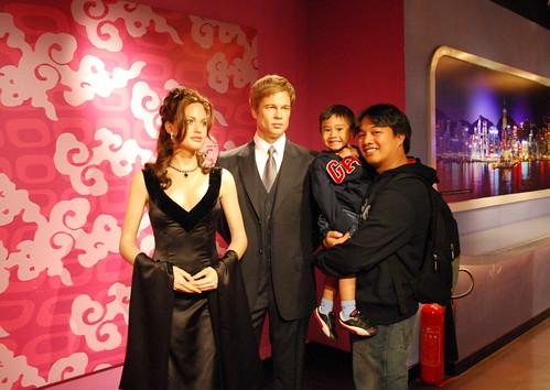 Angelina and Brad Wax