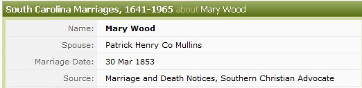 Ancestry's Mistake Mary Ann Wood Marriage